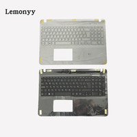 clavier vaio achat en gros de-Clavier d'ordinateur portable espagnol pour Vaio SVF1521K1EB svf1521p1r SVF152C29M SVF1521V6E clavier noir / blanc avec repose-poignet