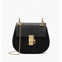 eski deri siyah hobo çantaları toptan satış-Çanta tasarımcısı Lüks Çanta Cüzdan Ünlü Markalar çanta kadın yüksek kaliteli çanta Crossbody çanta Bağbozumu deri Omuz Çantaları Siyah