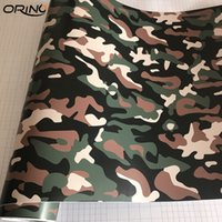 Wholesale army color car resale online - Army Green Camouflage Vinyl Wrap Film Auto Car Sticker Vinyls Film Black Green Camouflage Car Wrap For Car Wrapping Air Bubble Free