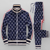 Wholesale sport suit casual clothes jacket for sale - Group buy 18ss year sportswear jacket suit fashion running sportswear Medusa men s sports suit letter printing clothing tracksuit sports
