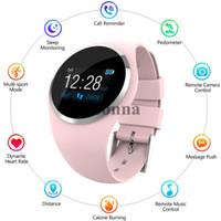 s téléphones intelligents achat en gros de-Montre Bluetooth Smart Watch Phone Mate de nouvelles femmes pour Android IOS iPhone Samsung Unisexe Bonbons Couleur Smart Montres