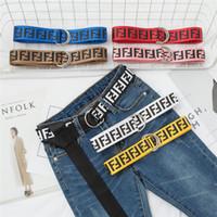 ingrosso jeans di marca delle ragazze-Marca FF Cintura in nylon Studente Designer di lusso fende ragazze Cinture in tela Cinture versatili Cinture Adolescente Doppio anello Jeans cinturini caldi B80601