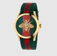 relojes de acero para niñas al por mayor-Reloj de pulsera de cuarzo con banda de acero para niña de estilo de abeja marca 2019 GU24