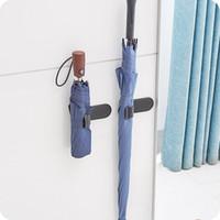 kanca şemsiyeleri toptan satış-2 Adet Yapıştırıcı İşlevli Şemsiye Kanca Oto Tutucu Askı Koltuk Klip Raptiye Raf Araba Ev Şemsiye Kanca Tutucu