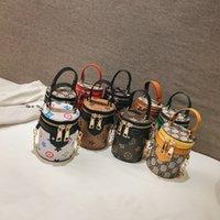 ingrosso regalo mini secchio-Borse per bambini Designer Novità Neonate Mini Princess Pruse Fashion Classic Stampato Bucket Designer Bambini Cross-body Bags Regali di compleanno