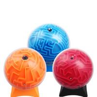 детские игры в лабиринте оптовых-3D лабиринт мяч обучение образование игрушки интеллектуальные игры дети представляют цвета смешивать стереоскопический 11 5 мл F1