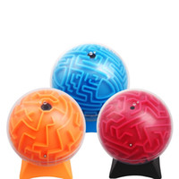 Wholesale kids games education online - 3D Maze Ball Learning Education Toys Intellectual Games Kids Present Colors Mix Stereoscopic ml F1