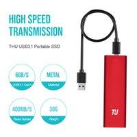pc katı hal toptan satış-THU Orijinal Mini SSD 128 GB Harici HD Katı Hal Sürücü 256 GB 512 GB 1 TB Taşınabilir SSD USB3.1 PC Laptop Notebook için 400 MB / s
