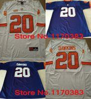 ingrosso jersey calcio americano viola-Outlet - NCAA Clemson Tigers maglie # 20 Brian Dawkins maglia arancione Bianco Viola American College maglie ricamo Logo A