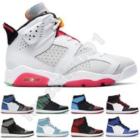 Wholesale best basketball kids for sale - Group buy Newer Best Sell Tie Dye s Jumpman Flints Bred Royal Toe Hare Court Purple Space Sneakers Trainer Kids Women Men Basketball Shoes US13