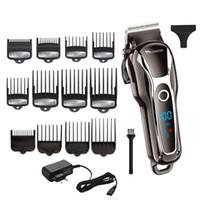 profesyonel saç kesme aletleri toptan satış-Erkekler Için güçlü Clipper Barber Profesyonel Düzeltici Elektrikli Kesici Saç Kesme Makinesi Saç Kesimi Salon Aracı T190706