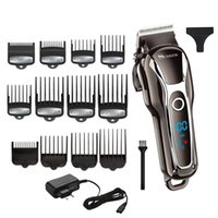ingrosso macchina elettrica di taglio di capelli-Potente tagliatore professionale da barbiere per uomo Tagliatore elettrico Tagliatrice per capelli Strumento per taglio di capelli T190706
