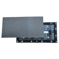 paneles led flexibles al por mayor-Módulo de pantalla smd flexible de 10 unidades RGB a todo color interior P4 256 mm LED cartelera pantalla video móvil panel de tablero de la muestra digital