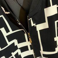 ingrosso semplice cappotto lungo donna-Giacca da donna di marca nera 2019 e giacca a manica lunga selvaggia semplice a labirinto bianco top casual da donna cappotto cappotto da donna di alta qualità AF-2