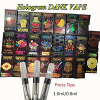 пакеты оптовых-Данк Vapes Голографического 510 Thread Керамических катушек Голограммы 3D Flavor пакет 0,8 мл густого масла Vape Картриджи 1мл Пустой бак Vape Pen Испаритель