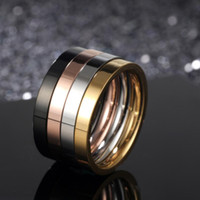 Wholesale titanium wedding rings for sale - designer jewelry titanium steel rings four color in one rings sets simple for unisex band rings hot fashion