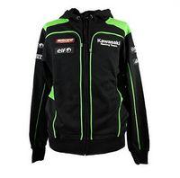chaqueta de moto kawasaki al por mayor-Chaquetas de moto Ropa de hombre 100% algodón Para el equipo Kawasaki Sudaderas MotoGP Sudaderas Motocicleta Casual Deportes de invierno Abrigo