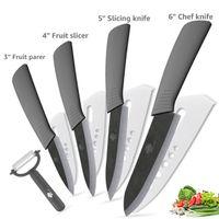 zirkon seramik bıçakları toptan satış-Mutfak Bıçakları Seramik Bıçak 3 '4' 6 '6 inç Zirkonya Japon Bıçak Siyah Bıçak Soyma Meyve Seramik Şef Bıçaklar Pişirme Seti