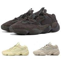 zapatillas super al por mayor-2019 New Designer 500 Salt Zapatillas de running para hombre Mujer Super Moon Yellow Blush Desert Rat 500 Kanye West Deportes Zapatillas deportivas al aire libre