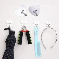 Wholesale keys hook rack for sale - Group buy Stainless Steel Self Adhesive Hook Key Heart Butterfly Shape Rack Towel Hanger Holder Wall Mount Home Kitchen Hanger LJJW66