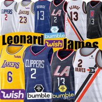 ingrosso basket maglie paul george-NCAA Kawhi Leonard 2 maglie LeBron James 6 Paul 13 George Anthony Davis 3 di basket della scuola di basket maglie