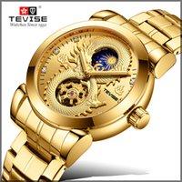 tevise роскошные мужчины оптовых-2019 новый бренд TEVISE мужчины механические часы роскошные автоматические часы мужской золотые часы бизнес наручные часы Relogio Masculino