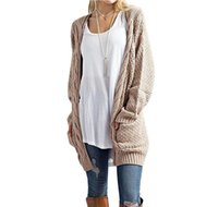 Wholesale wool jersey mujer resale online - New Long Cardigan Women Long Sleeve Knitted Sweater Cardigans Autumn Winter Womens Sweaters Jersey Mujer Invierno
