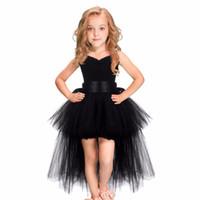 bebek kız el yapımı tutu elbisesi toptan satış-Tutu Elbise Bebek Kız Erkek Balo Elbise Askısı Yeni 2019 Beyaz Siyah Pembe Çiçek Tutu El Yapımı Prenses Kabarık Yumuşak Mesh Tül Elbise Y190516