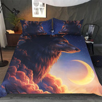 Wholesale wolf bedding sets full for sale - Group buy Queen Size Bedding Set Wolf Artistic Mysterious High End Duvet Cover D Queen King Double Full Twin Bed Cover with Pillowcase