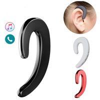 кости ушей оптовых-Беспроводные наушники без наушников Безболезненные наушники-вкладыши Bluetooth 4.1 с одним наушником