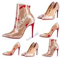 sapatos de prata do desenhador do casamento venda por atacado-Salto Hot Moda Rebites TOP Luxo Designers Red inferior Bottoms alta salto saltos pretos do casamento de prata Bombas Shoes vestido das mulheres com boxs