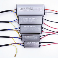 светодиодный драйвер питания трансформатора оптовых-Новый светодиодный драйвер 10 Вт 20 Вт 30 ВТ 50 Вт светодиодный драйвер адаптер трансформатор AC100V-265V в DC20-38V переключатель питания IP67 для полосы света прожектор