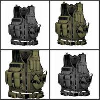 gilet noir multi-poches achat en gros de-Équipement de jeu Gilet de protection Aventure sauvage Plusieurs poches Multi Fonction Armée Vert Noir Cool Gilets Tactiques Vente Chaude 65ayD1