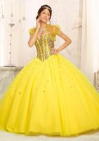 Wholesale pageant jacket girl online - 2019 Handmade Ball Gown Quinceanera Dresses with Jacket Sweetheart Tulle Crystals Girls Evening Gowns Customized Pageant Dress