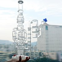 ingrosso coclea di bocce in bicchiere-Big Glass Water Pipe Dab Rigs Rocket Honeycomb Percolatore Beaker Bong 18inch Ice Catcher Recycler Bubbler Oil Rigs Ash Cacher Quartz Banger