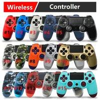 oyun joystick'leri toptan satış-Sony PlayStation4 PS4 için Kablosuz Oyun Denetleyicisi ile Yeni Oyun Sistemi Oyun Kontrolörleri Joystick Oyun Pedi Paketi ile Yüksek Kalite