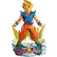 kakarotto drachen ball großhandel-Super Saiyajin Actionfiguren Wut Kakarotto Puppe Dragon Ball Anime Modell 23 cm Verschleißfest 46js F1