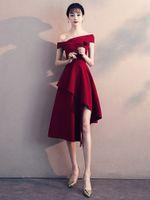 ingrosso maglieria spilla-Nuovo abito da sera I toast da sposa di solito possono indossare un piccolo abito da sera rosso