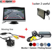 Wholesale radar camera for sale - Group buy 3in1 Dual Core CPU Car Parking Sensors With Movable Parking Guide camera Reversing Radars with Car Monitor parktronic Detector