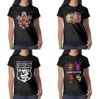 ingrosso grande stampa di immagine-Maglietta da donna con stampa di design Five Nights at Freddy's Big Image maglietta nera maglietta cool designer camicie moda slogan