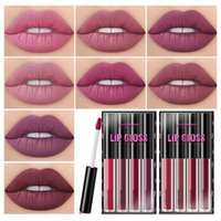 Wholesale long wear matte lipstick for sale - Group buy LANGMANNI set Waterproof Liquid Lipstick Set Matte Velvet Shades Lip Gloss Kit Long lasting Creamy Lip Color Cosmetics