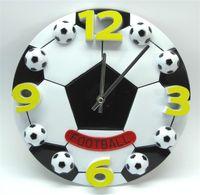 relógios de parede de 12 polegadas venda por atacado-12 Polegada De Basquete Relógio De Parede De Futebol De Plástico Colorido Circular Digital Quarto Sala Bardian Decorar Moda Relógios De Parede 23xyD1