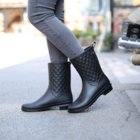 4c04db54e47f 2018 Women Boots Rain Italianate Rubber Rainboots Galosh Rain Boots Women  Water Bot Short Tube Galoshes Zapatos De Mujer Boots99