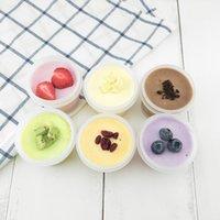 крышки для мороженого оптовых-100 мл пластиковая чашка для мороженого с крышкой DIY торт десерт десертные коктейли чашки мороженое инструменты W9236