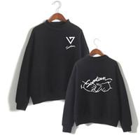 ingrosso coppie hoodies dell'esercito-I fan Kpop Seventeen17 dell'esercito con cappuccio Donne Collo allentati Coppie Felpa nuovo album Kpop Hip Hop Harajuku Tops