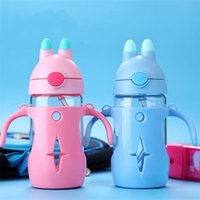 Wholesale tape baby for sale - Group buy Baby Insulated Bottle PP Baby Glass Heat Preservation Insulated Bottle Tape Calibration Straw Feeding Bottle Water Cup With Handle