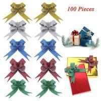 insignias de luz de navidad al por mayor-Resplandeciente Tire arcos del embalaje de regalo de la cinta cuerdas de arcos de tracción Decoración de Navidad cinta de embalaje de regalo de Navidad para regalos
