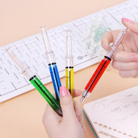 Wholesale syringe ballpoint pen for sale - Group buy Creative Ballpoint Pens syringe needle Ballpoint Pens needle ball pen trick of children s toys prize for students Advertising Gifts