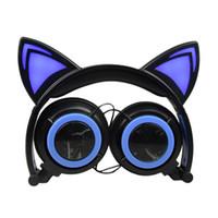fones de ouvido militares venda por atacado-Um fone de ouvido de jogos invisível orelhas de gato fone de ouvido um fone de ouvido de jogos fone de ouvido estéreo uhf em dois sentidos fone de ouvido de rádio para mini militar