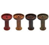 shisha filtreleri toptan satış-Yeni Seramik Phunnel Nargile Kase Chicha Shisha Kase Yüksekliği 10.8 cm Cam Su Bongs Sigara Aracı Aksesuarları Için Filtre Tutucu
